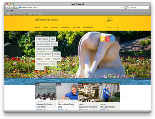 WCC desktop site for responsive design