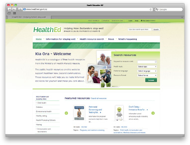 MOH - Minnistry of Health multilingual educational health resources website
